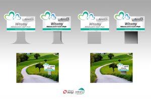 Projekt graficzny pylonu wjazdowego do Gminy